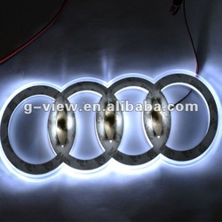 Free shipping New and Unique design waterproof superbright New auto led logo(China (Mainland))
