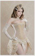 Fashion Victorian Cream Overbust
