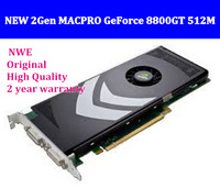 Free shipping 100% Original NEW 2Gen MACPRO GeForce 8800GT 512M mac pro Video Graphics Card 2years warranty