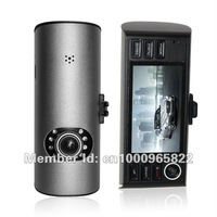 factory selling Wholesale Newest HD 720P car CAM dvr with dual lens Built-in G-Sensor H.264 freeshipping F50