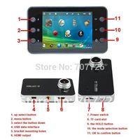 Novatek K6000  night vision car dvr 100A ultra-wide-angle lens 1080p car video recorder free shipping