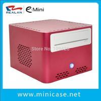 Red Aluminum Cabinet PC ,Mini ITX Case, Computer Cabinet ,HTPC Case  E-Q7