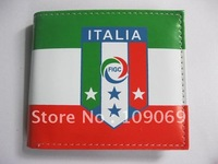 New arrival Italy flat wallet purse / fans color printing PU wallet