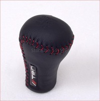 Manual Gear Shift Knob Shifter With TRD Logo (RED Stitch) TOYOTA