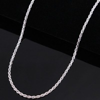 "C014 Men's 925 Sterling Silver Necklace 16""---24"" 3mm Twisted Rope Chain Wholesale 925 Silver Jewellery"