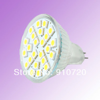 2PCs SD32/SD33 MR16 4W 5050 SMD LED 24 LED Lamp Bulb 220V 240 Lm White/Warm White Light Bulb