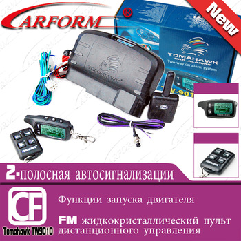 High class two way car alarm system TOMAHAWK  TW9010 Russian version 2-way Engine starter Free shipping