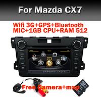 "7"" HD Touch Screen Car DVD for Mazda CX7 Wifi 3G GPS Bluetooth Radio RDS TV USB SD IPOD Steering Wheel Control Free camera+map"