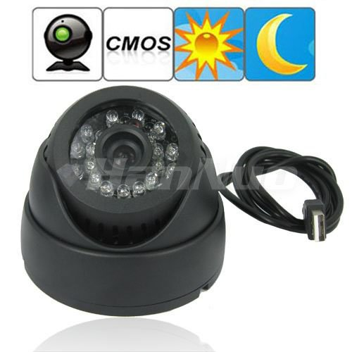 Free Shipping! Dome 1/4 Inch CMOS CCTV security Video Surveillance ,Digital Video Recorder Support TF Card ,24 pieces IR LED.(China (Mainland))