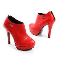2014 new Women platform  Pumps Anke boots waterproof Sexy High Heels  Ladies Heels elegant bride red Wedding Plus size