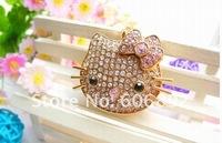 5pcs/lot 2GB 4GB 8GB 16GB 32GB Hello Kitty jewelry cheap usb flash drive with gift box + dropping shipping