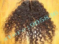 "Queen hair   kinky curly  brazilan virgin hair lace closure 4""by5"""