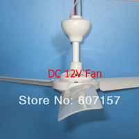 3W Mini Solar DC Ceiling Fans, 12V DC Battery Fan, low noise ceiling fan, Brushless Motor ,made of High-strength Plastic Nylon