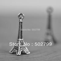 Wholesale 20PCS Silver Tone Eiffel Tower Charm Pendants TS6020