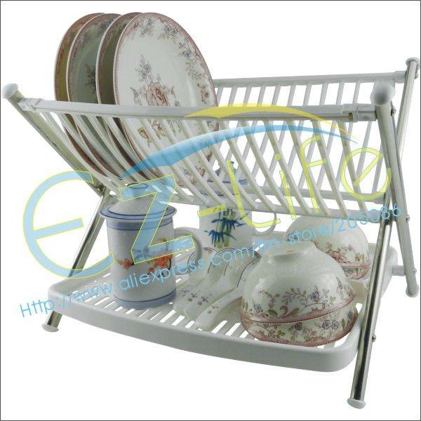 Multi-function folding bowl rack *kitchen plate rack*dish tableware water drain holder rack, kitchen space saving(China (Mainland))