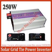 250W Solar Grid Tie Power Inverter,optional DC input range 10.8V-30V/14-28V/22-60V,Low cost and easy installation