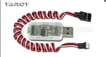 F02112 Tarot ajustar PRGMR adaptador USB ZYX07 Para RC Trex Flybarless Heli 3 ejes 3 ejes Gyro System ZYX01 + Free