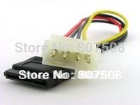 (100pcs/lot) 4pin 4-pin IDE PATA ATA to Serial SATA Power Cable Adapter Convert Convertor