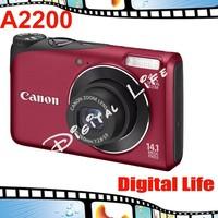 Original Canon PowerShot A2200 Digital Camera 4x Optical Zoom, 4x Digital Zoom,14MP Sensor Resolution