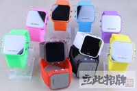 led Mirror watch,silicone watch, Mirro wrist quartz watch ,Free shipping,wholesale,C030 drop shipping