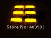 FREE SHIPPING 6*22 LED Fire Emergency FLASHING Strobe Warning Lights AMBER RECOVERY SECURITY TRAFFIC 3  FLASH  MODE