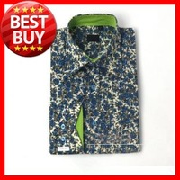 2013 Good  Quality    Men's Big  Size  (S-3XL)  Long Sleeve Fashion  Flower  Dazzle  Dress Shirts  D002