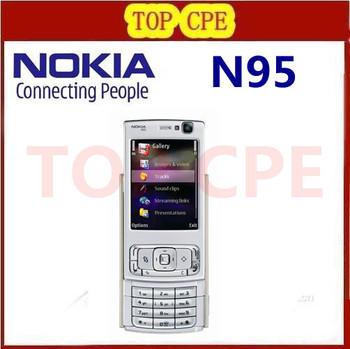 N95 Original Nokia N95 WIFI GPS 5MP 2.6''Screen WIFI 3G Unlocked Refurbished Mobile Phone FREE SHIPPING 1 Year Warranty In Stock