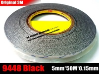 (5mm *50 meters) 3M Double Sided Adhesive Tape Sticky for Android MobilePhone Tablet LCD Display Touch Screen Glass Housing Bond