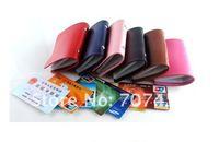 Free shipping !100pcs/lot retail new creative fashion leather bank credit Card team holder 24 card bag case membership