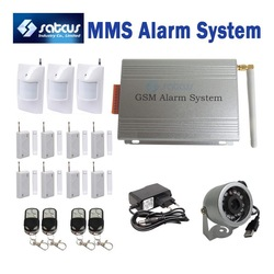 DHL Shipping ~MMS DVR GSM Burglar Security Alarm System With MMS & SMS Motion Detect IR Camera(China (Mainland))