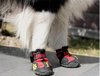 New Dog&#39;s Shoes,Pet Shoes,Pet Boots 4pcs/set Anti Slip Skid Waterproof Bottom Black,Red (SizeXXXXS-XL)