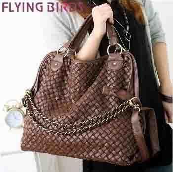 Flying birds! Korean style Lady women PU leather bag Handbag Popular Shoulder Messenger Bags shoulder bag free shipping Q017