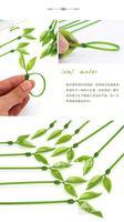 12pcs Green Leaf Nylon Silicone Plastic Wire Cord Strap Wrap Tag Cable Tie