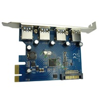 Band new  VIA chipset 4 port  USB3.0 PCIe Card USB3.0 to PCI express card