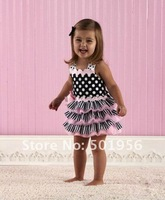 3 pcs/lot Baby girls tutu Dress princess dress ruffle dress kids dress for Summer free shipping