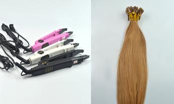 "Fusion Iron Tool+18"" 20"" 22"" 100S #12 Light Brown 50g Nail Tip Human Hair Extension free shipping"