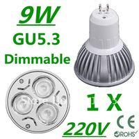 2X High power CREE GU5.3 3x3W 9W 220V Dimmable Light lamp Bulb LED Downlight Bulb Warm white Pure white Cool White free shipping