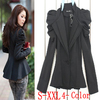2012 new formal blazer Puff sleeves business suit jacket Tuxedo coat women clothes