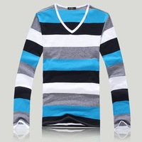 2014 Brand new fashion mens t shirts 100% cotton casual long sleeve t shirts high quality slim men's t shirt 3 colors