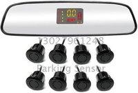 Guaranteed 100% New  VFD Display Mirror Parking Sensor with 8 Sensors + 2012 Best Selling