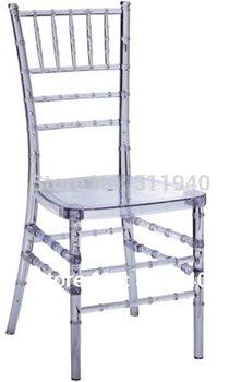4 pieces/lot PC plastic Chiavari bamboo wedding dining chairs