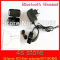 Free shipping Mini Wireless Bluetooth Headset for iPhone, PS3, PDA Small size, light weight with Retail packing