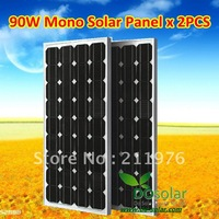 2 X 90W 12V mono solar module total 200W  for home use, Grade A solar PV panel--FREE SHIPPING in stock