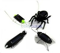 Mixed wholesale solar toy kit  solar multiped insect +solar cockroach+ solar Grasshopper+solar spider 10pcs/toy  free shipping