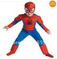 5pcs/lot Party Kids Child Toddler Comic Marvel Spider-Man Superhero Muscle Halloween Costume free shipping