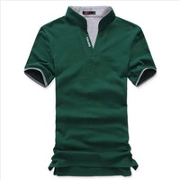 2014  new Mens summer leisure T shirt fashion slim short sleeve V neck T shirt