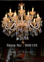 "D32"" European Style Stunning Crystal Chandelier Ceiling Fixture Light - 15 Lts w. Hanging kit Guaranteed100%+Free shipping!"
