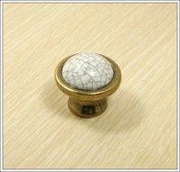 Cracks Ceramic Zinc Alloy Kitchen Cabinet Furniture Knob  (Diametre:38mm)