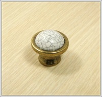 Cracks Ceramic Zinc Alloy Kitchen Cabinet Furniture Knob  (Diametre:38mm)