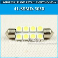 Wholesale 41mm 8SMD 5050 Canbus Dome Light Car Interior Lamp Automobile Wedge LED Bulbs 8 SMD